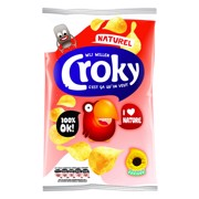 Croky Chips Naturel         doos 20x40gr
