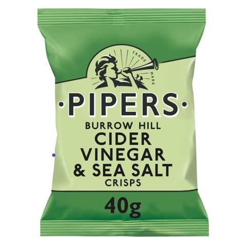 Pipers Burrow Hill Cider Vinegar & Sea Salt doos 24x40g