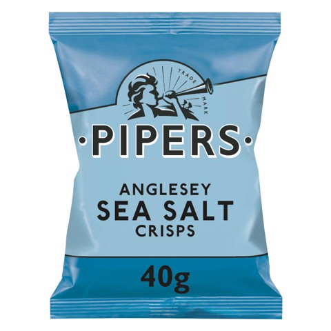 Pipers Anglesey Sea Salt Chips       doos 24x40gr