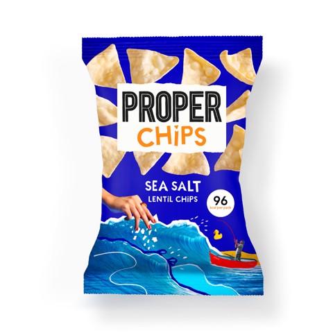 Proper Chips Sea Salt Linzen Chips  doos 24x20gr