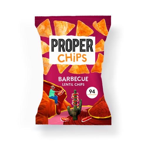 Proper Chips Barbecue Linzen Chips     doos 24x20gr