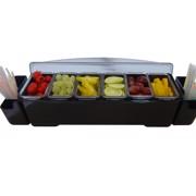 Bar Professional Ingredientenbak 6-vak Plastic st