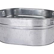 Terras Bucket Zink Ovaal 37cm  per stuk