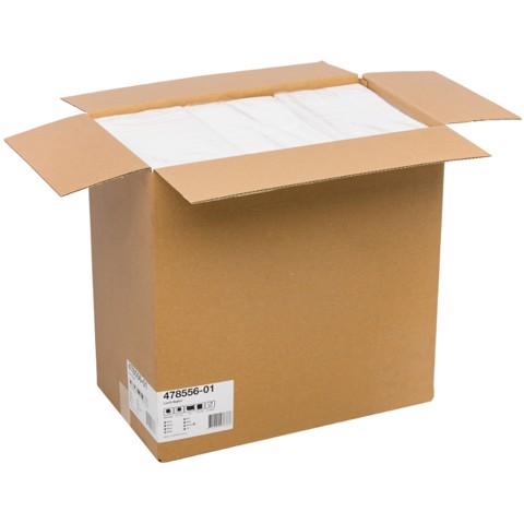 Servet 33x33cm 1-laags 4-vouw Wit  doos 4000st