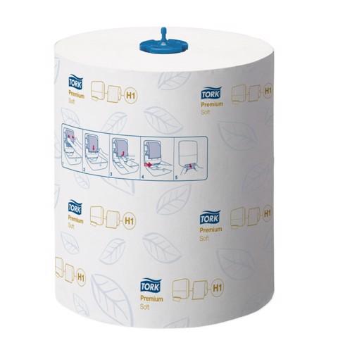 Tork H1 Matic Zachte Handdoekrol 2-l Premium Wit pak 6st