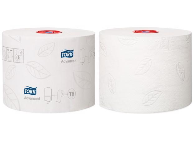 Tork T6 Twin MS Toiletpapier 2-laags Wit pak 27st