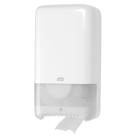 Tork T6 Twin MS Toiletpapier Dispenser Wit st