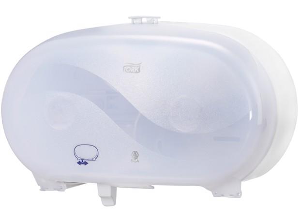 Tork T7 Twin Hulsl MS Toilet Dispenser Wit st