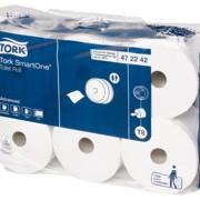 Tork T8 SmartOne Toiletpapier 2-laags Wit pak 6st