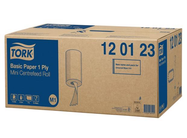 Tork M1 Mini CF Poetspapier 1-laags Wit pak 11st
