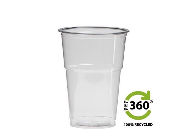 Bierbeker PET360 Blanco 25cl  doos 1250st