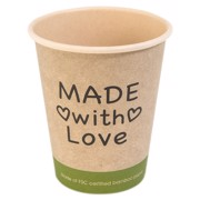 Beker Made with Love Bamboe 25cl  doos 1000st