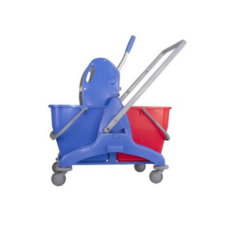 Mopwagen met Pers Kunststof 2x25L   per stuk