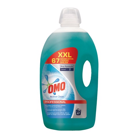 Omo Prof Vloeibaar Wit Active Clean can 5L