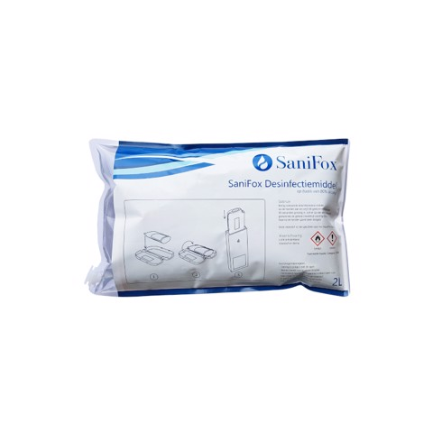 Sanifox Desinfectiemiddel 80% Alcohol zak 2,00L