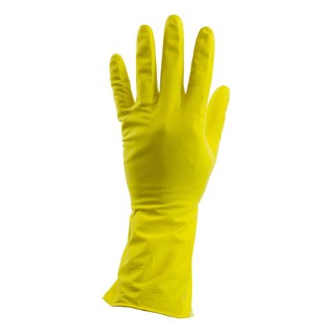 Huishoudhandschoen L Geel       zak 12st