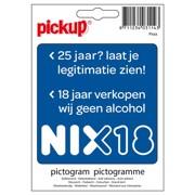 Pickup NIX18 <25 jaar Legitimatie Sticker st