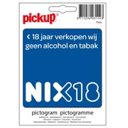 Pickup NIX18 <18 jaar Alcohol Sticker per stuk