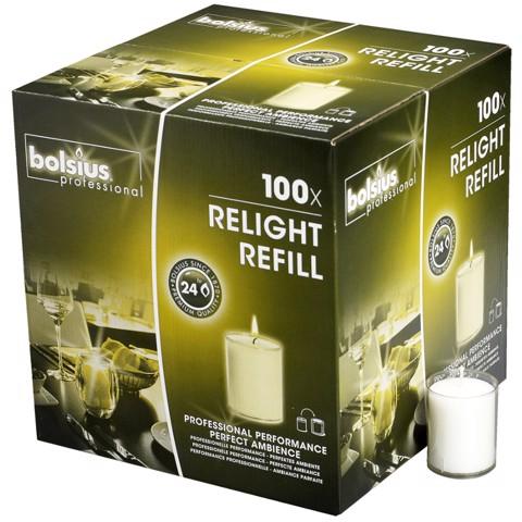 Bolsius ReLight Vulling  Transparant doos 100st